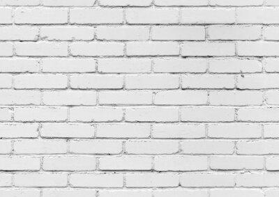 Fotomural Pared de ladrillo blanco, textura de fondo sin fisuras