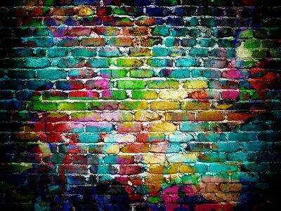 Fotomural pared de ladrillo de la pintada