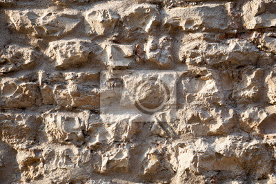Pared De Piedra Sin Tratar Detalles Muro De Piedra Rustica Y - Muro-piedra