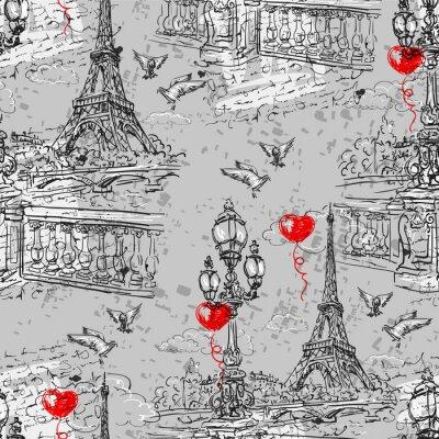 Fotomural París. Vintage patrón transparente 3