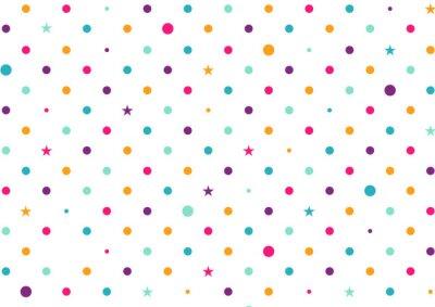 Fotomural Pastel colorido puntos fondo blanco ilustración vectorial