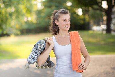 Fotomural patinaje mujer joven