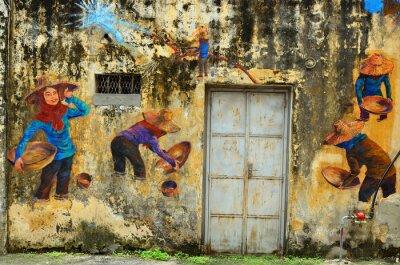 Fotomural Patrimonio de Ipoh, Malasia - Ipoh es una ciudad en Malasia, a unos 200 km al norte de Kuala Lumpur ..