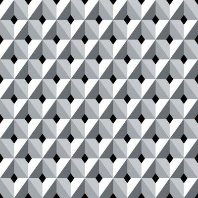 Fotomural Patrón de diamantes geométricos 3D sin fisuras.