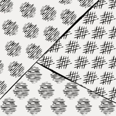 Fotomural Patrón de fondo abstracto, con trazos y salpicaduras, negro y