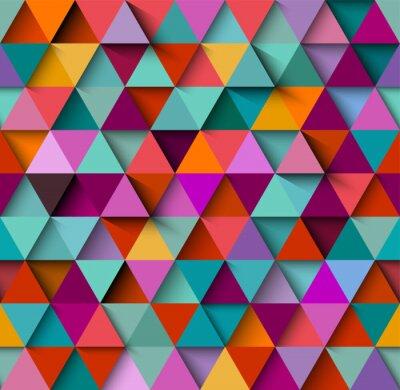 Fotomural Patrón de fondo transparente con triángulos y sombras, vector eps10