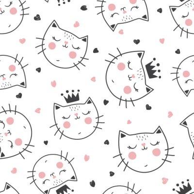 Fotomural patrón de gato reina