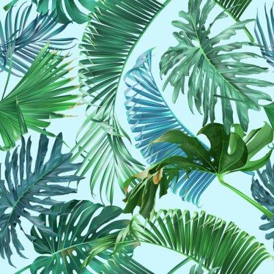 Fotomural Patrón de hojas tropicales