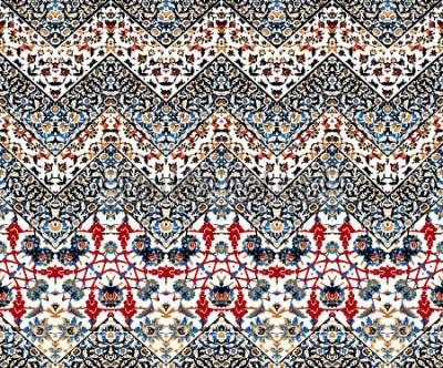 Fotomural patrón de iket zig zag abstracto