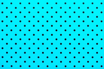 Fotomural Patrón de papel tapiz puntos negros en el fondo de color turquesa