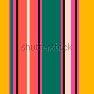 Fotomural Patrón de rayas sin costura colorido brillante retro. Resumen de vectores de fondo. Colores con estilo.