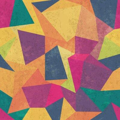Fotomural Patrón de triángulo. Colorido, grunge y transparente. Efectos de grunge
