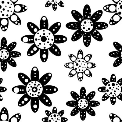 Fotomural Patrón floral transparente
