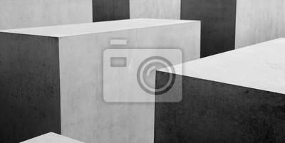 Fotomural Patrón geométrico b & w Resumen