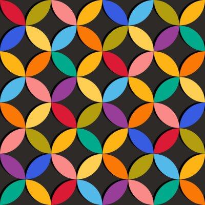 Fotomural Patrón geométrico transparente con elementos de colores