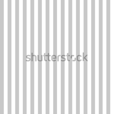 Fotomural Patrón raya colores gris y blanco sin costuras. Vector de fondo abstracto de raya de patrón vertical.