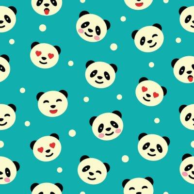 Fotomural Patrón sin fisuras con panda. Ilustración del vector.