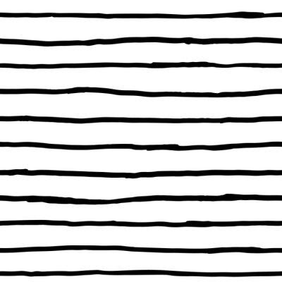Fotomural Patrón sin fisuras - líneas horizontales de tinta