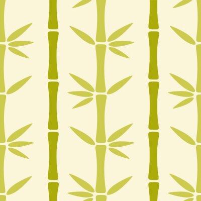 Fotomural Patrón transparente con árboles de bambú