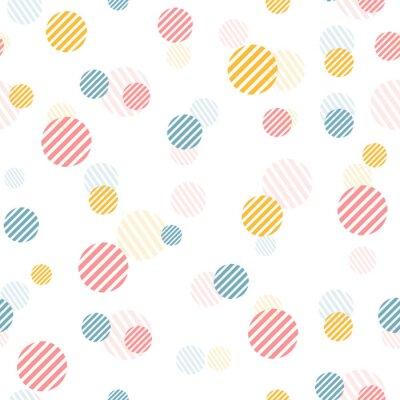 Fotomural Patrón transparente de la vendimia apacible del vector con los puntos coloridos.