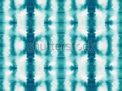 Fotomural Patrón transparente de vector tie dye. Dibujado a mano estampado shibori. Fondo japonés con textura de tinta. Azulejo de papel tapiz batik moderno. Acuarela telón de fondo sin fin.