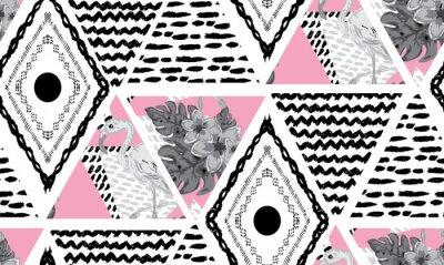 Fotomural patrón transparente tropical de grunge