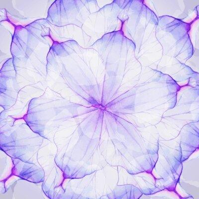 Fotomural Patrones redondos florales de la acuarela.