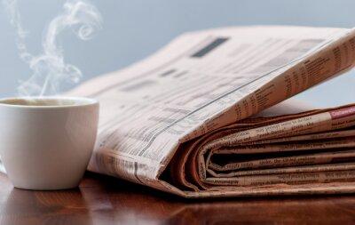 Fotomural Periódico y café