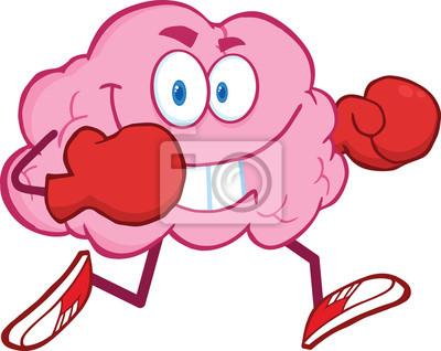 personaje de dibujos animados del cerebro que se ejecuta con