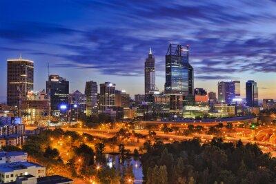 Fotomural Perth CBD park amanecer