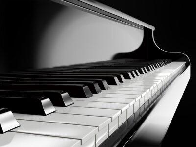 Fotomural Piano, teclas, negro, piano