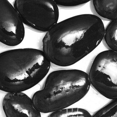 Fotomural piedras negras mojadas