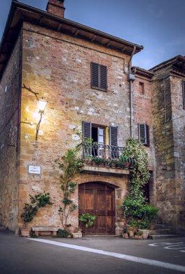 Fotomural Pienza de noche, Toscana