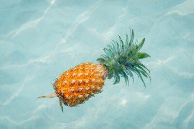 Fotomural Piña en el agua en la soleada playa