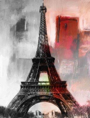 Fotomural Pintura París Torre Eiffel Torre Eiffel Image arte pintura al óleo