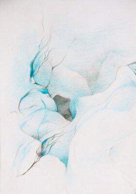 Fotomural pinturas azules