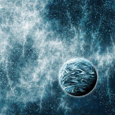 Fotomural Planeta Extrasolar en un espacio deformado Tiempo Región