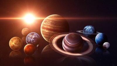 Fotomural Planetas aislados del sistema solar de la calidad de Hight. Elementos de esta imagen proporcionados por la NASA