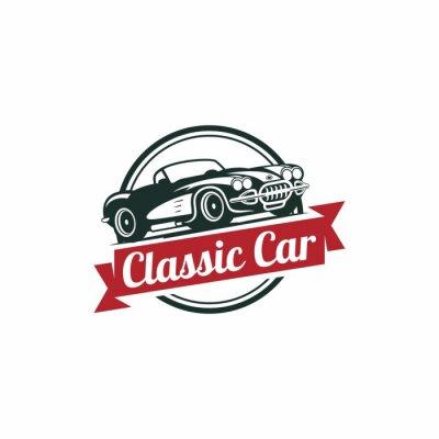 Fotomural Plantilla Classic Car Vector