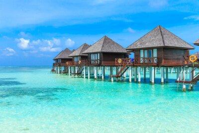 Fotomural Playa con Maldivas