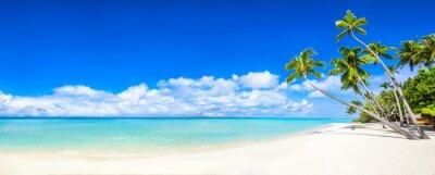 Fotomural Playa panorama con el mar y las palmeras
