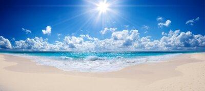 Fotomural playa tropical y el mar - paisaje