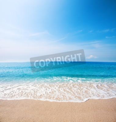 Fotomural Playa y hermoso mar tropical