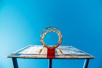 Fotomural Plexiglás, calle, baloncesto, tabla, aro, exterior, corte