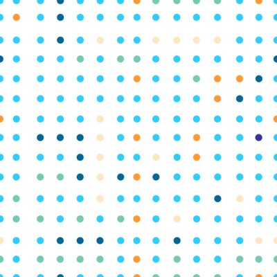 Fotomural Polka dots vector patrón sin fisuras. Puntos de diversos colores.