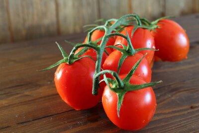 Fotomural Pomodoro Rosso un grappolo varietà Piccadilly
