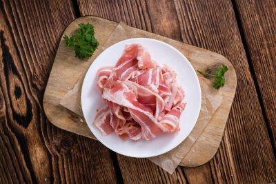 Fotomural Porción de Bacon crudo