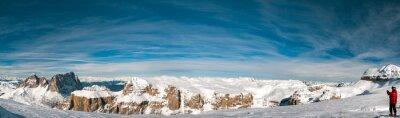 Fotomural Pordoi dolomitas italianas panorama paisaje