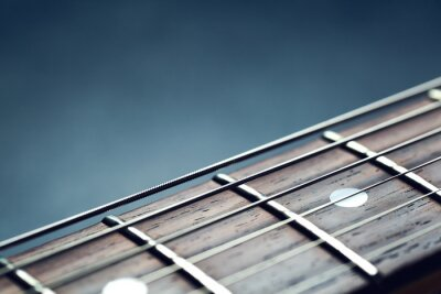 Fotomural Primer del cuello de la guitarra
