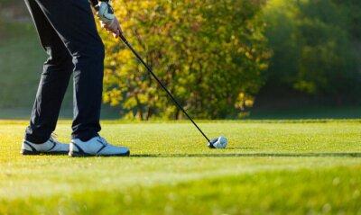 Fotomural Primer plano, hombre, juego, golf, verde, curso